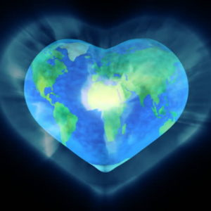 earth heart shape