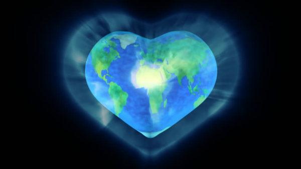 earth heart shape